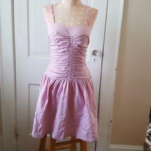 Pink gingham Armani dress
